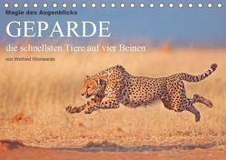 Magie des Augenblicks – Geparde – die schnellsten Tiere auf vier Beinen (Tischkalender 2019 DIN A5 quer) von Wisniewski,  Winfried