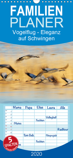 Magie des Augenblicks – Vogelflug – Eleganz auf Schwingen – Familienplaner hoch (Wandkalender 2020 , 21 cm x 45 cm, hoch) von Wisniewski,  Winfried