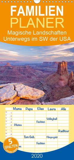 Magische Landschaften – Unterwegs im Südwesten der USA – Familienplaner hoch (Wandkalender 2020 , 21 cm x 45 cm, hoch) von Kluge,  Wolfram