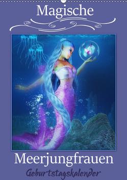 Magische Meerjungfrauen (Wandkalender immerwährend DIN A2 hoch) von Pic A.T.Art,  Illu