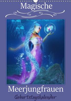 Magische Meerjungfrauen (Wandkalender immerwährend DIN A3 hoch) von Pic A.T.Art,  Illu