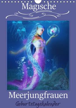 Magische Meerjungfrauen (Wandkalender immerwährend DIN A4 hoch) von Pic A.T.Art,  Illu