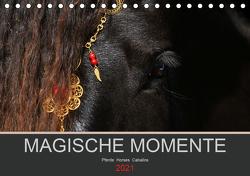 Magische Momente – Pferde Horses Caballos (Tischkalender 2021 DIN A5 quer) von Eckerl Tierfotografie www.petraeckerl.com,  Petra