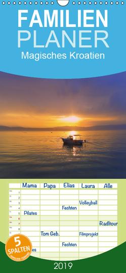 Magisches Kroatien – Familienplaner hoch (Wandkalender 2019 , 21 cm x 45 cm, hoch) von EigenART