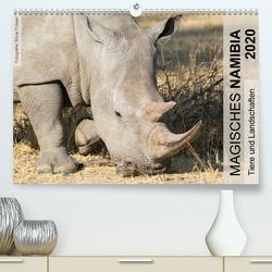 Magisches Namibia – Tiere und LandschaftenCH-Version (Premium, hochwertiger DIN A2 Wandkalender 2020, Kunstdruck in Hochglanz) von Trüssel,  Silvia