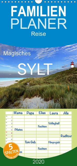 Magisches Sylt – Familienplaner hoch (Wandkalender 2020 , 21 cm x 45 cm, hoch) von Tangermann,  Franz