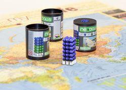 Magnetkugeln NEOBALLS Set 108-teilig blau, für Markierungen auf Landkarten