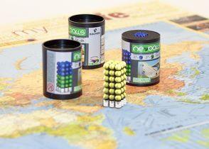 Magnetkugeln NEOBALLS Set 108-teilig gelb, für Markierungen auf Landkarten