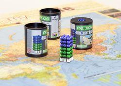 Magnetkugeln NEOBALLS Set 108-teilig grün-blau, für Markierungen auf Landkarten