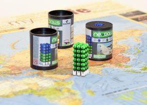 Magnetkugeln NEOBALLS Set 108-teilig grün, für Markierungen auf Landkarten