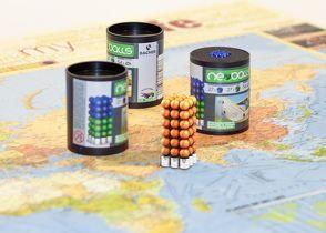 Magnetkugeln NEOBALLS Set 108-teilig orange, für Markierungen auf Landkarten