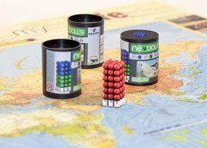 Magnetkugeln NEOBALLS Set 108-teilig rot, für Markierungen auf Landkarten