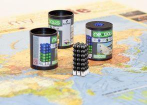 Magnetkugeln NEOBALLS Set 108-teilig schwarz, für Markierungen auf Landkarten