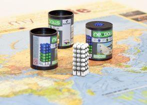 Magnetkugeln NEOBALLS Set 108-teilig weiß, für Markierungen auf Landkarten