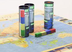 Magnetkugeln NEOBALLS Set 216-teilig grün-gelb-blau-rot, für Markierungen auf Landkarten