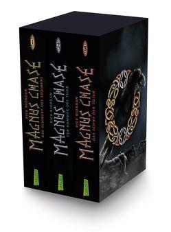 Magnus Chase: Magnus-Chase-Schuber (3 Bände im Taschenbuch-Schuber) von Haefs,  Gabriele, Riordan,  Rick