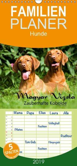 Magyar Vizsla – Zauberhafte Kobolde – Familienplaner hoch (Wandkalender 2019 , 21 cm x 45 cm, hoch) von Grüttner,  Kerstin