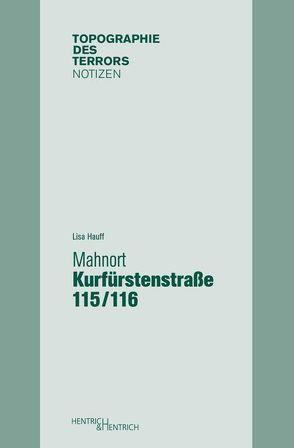 Mahnort Kurfürstenstraße 115/116 von Hauff,  Lisa