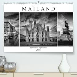 MAILAND Monochrome Impressionen (Premium, hochwertiger DIN A2 Wandkalender 2021, Kunstdruck in Hochglanz) von Viola,  Melanie