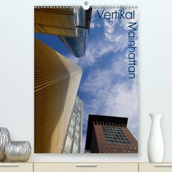 Mainhattan – Vertikal (Premium, hochwertiger DIN A2 Wandkalender 2021, Kunstdruck in Hochglanz) von Schonnop,  Juergen