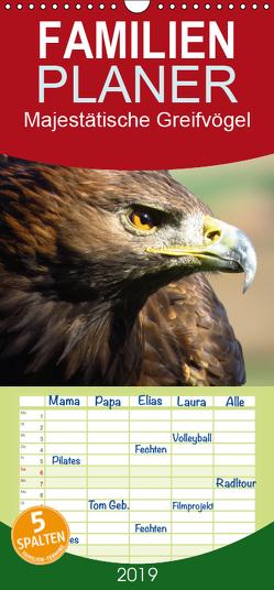 Majestätische Greifvögel – Familienplaner hoch (Wandkalender 2019 , 21 cm x 45 cm, hoch) von Dürr,  Brigitte