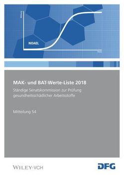 MAK- und BAT-Werte-Liste / MAK- und BAT-Werte-Liste 2018