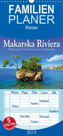 Makarska Riviera – Malerische Urlaubsorte in Dalmatien – Familienplaner hoch (Wandkalender 2019 , 21 cm x 45 cm, hoch) von LianeM