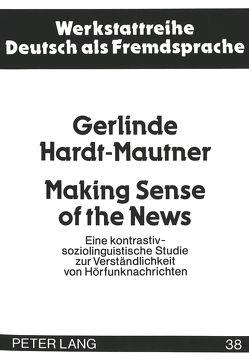 Making Sense of the News von Mautner,  Gerlinde