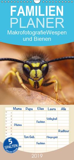 Makrofotografie: Wespen und Bienen – Familienplaner hoch (Wandkalender 2019 , 21 cm x 45 cm, hoch) von Mett Photography,  Alexander