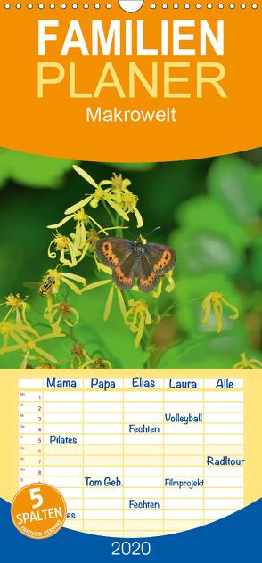 Makrowelt 2018 – Familienplaner hoch (Wandkalender 2020 , 21 cm x 45 cm, hoch) von Just (foto-just.de),  Gerald