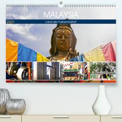 Malaysia – Land der Farbenvielfalt (Premium, hochwertiger DIN A2 Wandkalender 2021, Kunstdruck in Hochglanz) von by Sylvia Seibl,  CrystalLights