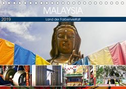 Malaysia – Land der Farbenvielfalt (Tischkalender 2019 DIN A5 quer) von by Sylvia Seibl,  CrystalLights