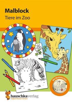 Malblock – Tiere im Zoo von Specht,  Gisela