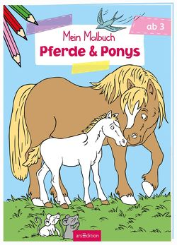 Malbuch ab 3 Jahren – Pferde & Ponys VE5 von Glatzel-Poch,  Helge