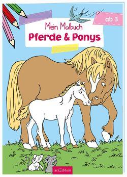 Malbuch ab 3 Jahren – Pferde & Ponys von Glatzel-Poch,  Helge