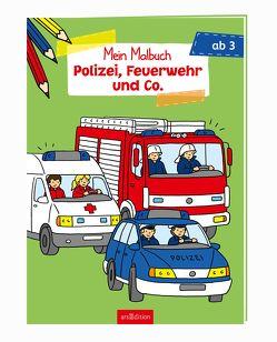 Malbuch ab 3 Jahren – Polizei, Feuerwehr und Co. von Zimmer,  Christian