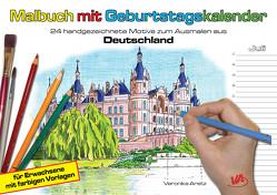 Malbuch mit Geburtstagskalender aus Deutschland von Aretz,  Veronika