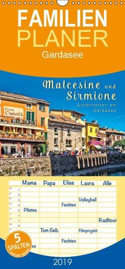 Malcesine und Sirmione, Schönheiten am Gardasee – Familienplaner hoch (Wandkalender 2019 , 21 cm x 45 cm, hoch) von Roder,  Peter