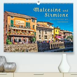 Malcesine und Sirmione, Schönheiten am Gardasee (Premium, hochwertiger DIN A2 Wandkalender 2020, Kunstdruck in Hochglanz) von Roder,  Peter