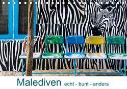 Malediven – echt – bunt – anders (Tischkalender 2019 DIN A5 quer) von Blome,  Dietmar