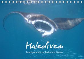 Malediven – Tauchparadies im Indischen Ozean (Tischkalender 2021 DIN A5 quer) von Schonnop,  Juergen