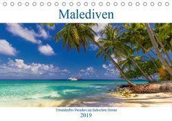 Malediven – Traumhaftes Paradies im Indischen Ozean (Tischkalender 2019 DIN A5 quer) von Heuvers,  Elly