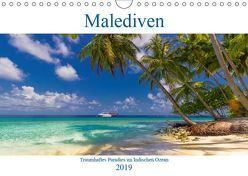 Malediven – Traumhaftes Paradies im Indischen Ozean (Wandkalender 2019 DIN A4 quer) von Heuvers,  Elly