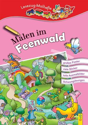 LESEZUG/ Malbuch: Malen im Feenwald von Guhe,  Irmtraud