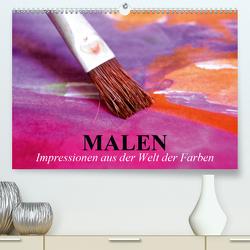 Malen. Impressionen aus der Welt der Farben (Premium, hochwertiger DIN A2 Wandkalender 2021, Kunstdruck in Hochglanz) von Stanzer,  Elisabeth