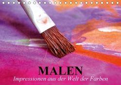 Malen. Impressionen aus der Welt der Farben (Tischkalender 2018 DIN A5 quer) von Stanzer,  Elisabeth