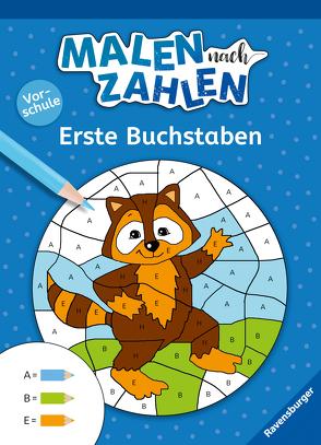 Malen nach Zahlen, Vorschule: Erste Buchstaben von Jebautzke,  Kirstin, Penner,  Angelika