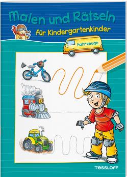 Malen und Rätseln für Kindergartenkinder. Fahrzeuge von Lohr,  Stefan