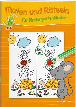 Malen und Rätseln für Kindergartenkinder (Orange) von Pautner,  Norbert, Poppins,  Oli, Schmidt,  Sandra, Schwendemann,  Nadja, Tessloff Verlag, Turnhofer,  Kersti