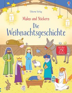 Malen und Stickern: Die Weihnachtsgeschichte von Brooks,  Felicity, Meredith,  Sam, Widdowson,  Kay